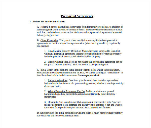 drafting premarital agreements