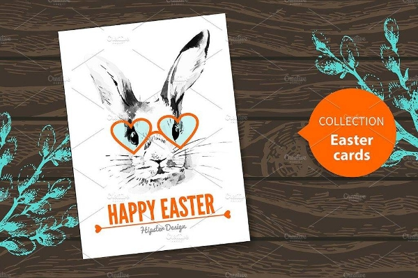 easter card hipster design