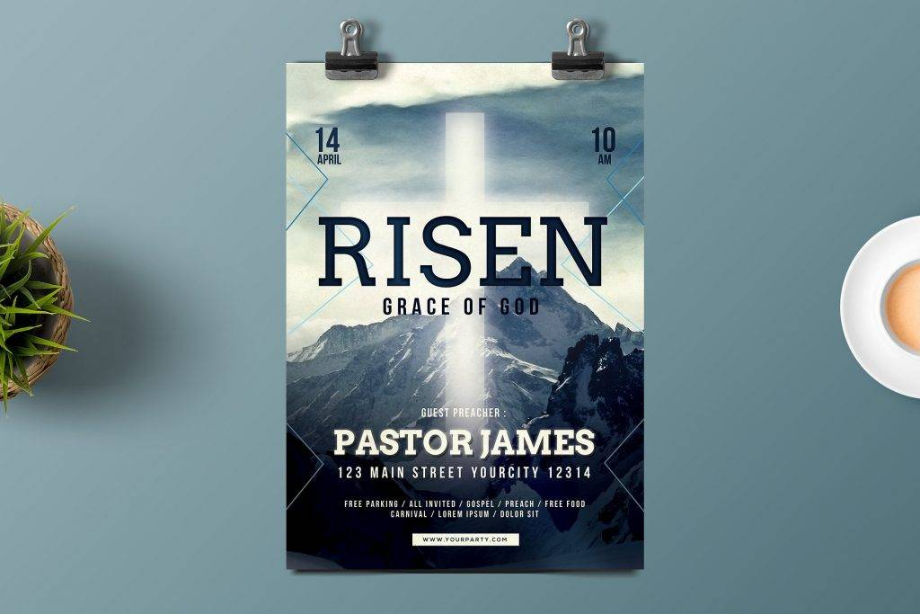 easter church flyer