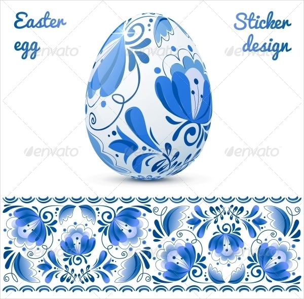 easter egg sticker design