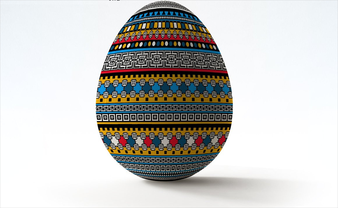 easter eggs mock up