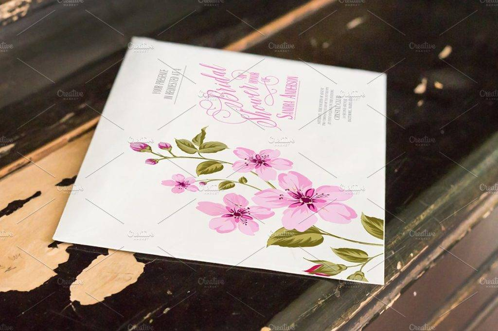 editable bridal shower card