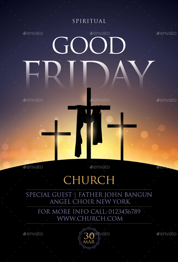 editable good friday flyer