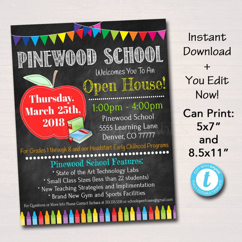 Open House Flyer Designs Examples PSD AI - Open house ad template