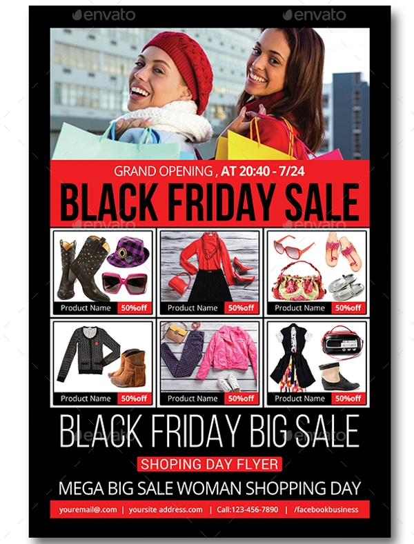 elegant black friday flyer templates
