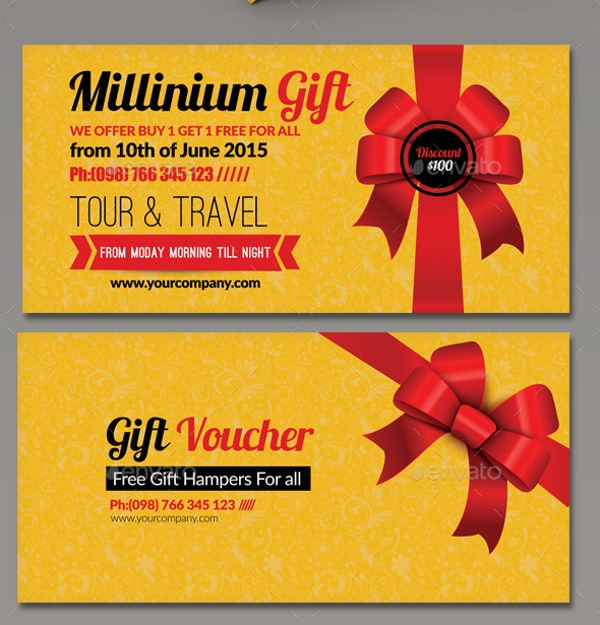 elegant business gift voucher