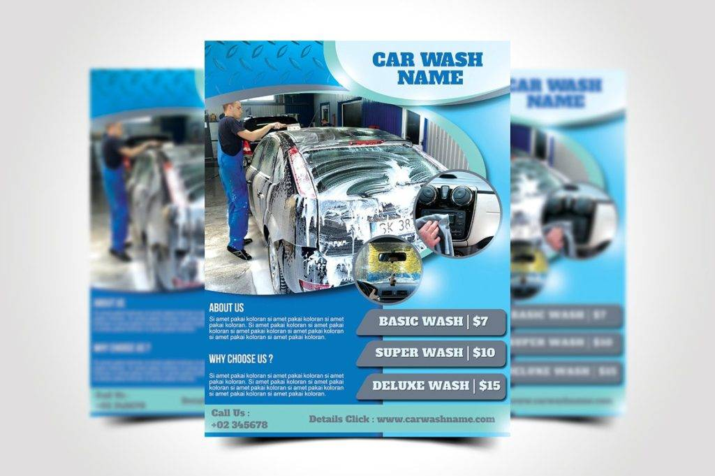 Car Wash Flyer Designs  Examples  Psd Ai