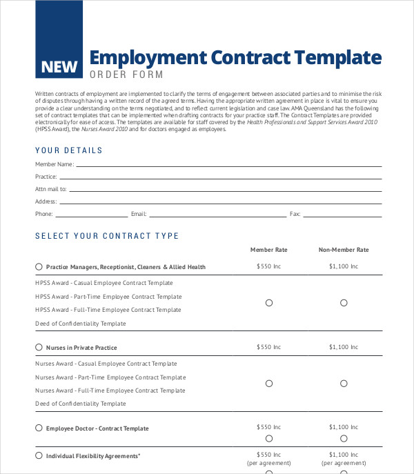 employee contract example