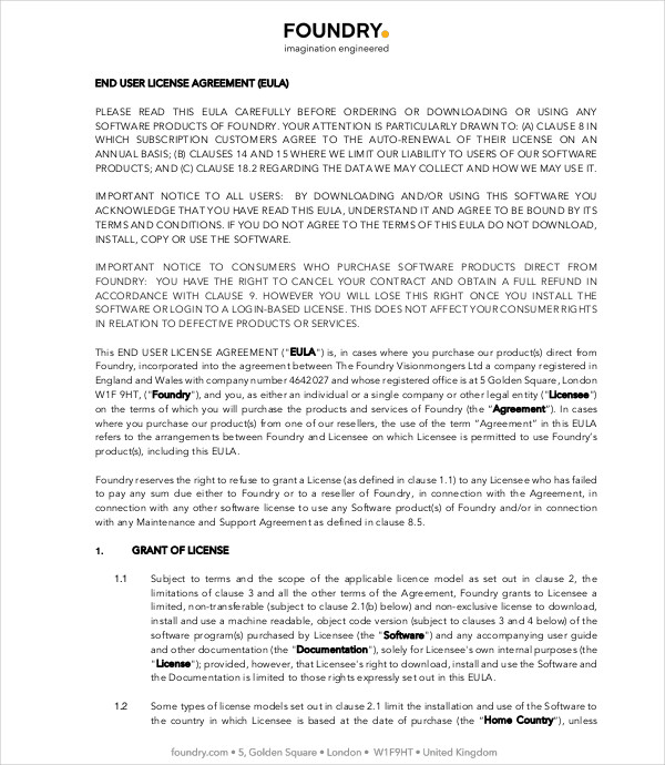 9 Licensing Agreement Example And Samples Pdf Doc