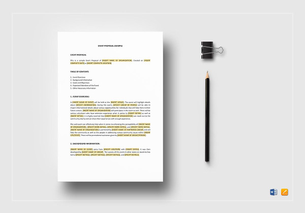 30 Event Proposal Examples Pdf Doc Psd Ai Pages