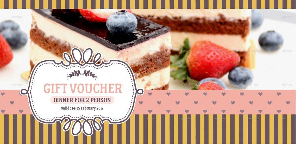 fancy gift voucher template