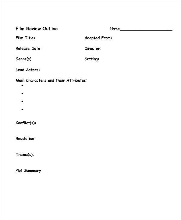 MOVIE REVIEW TEMPLATE - Google Docs