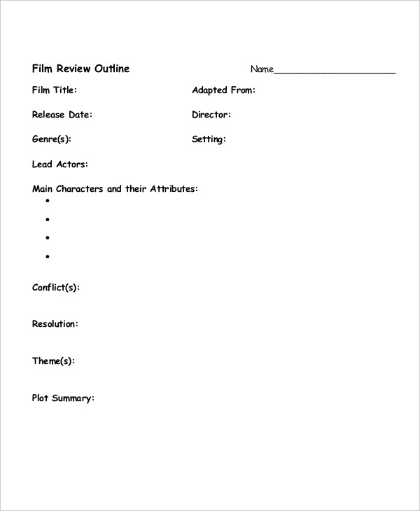 film review outline1