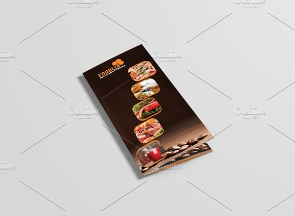 food restaurant brochure design