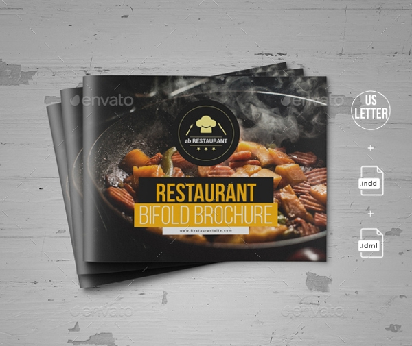 food restaurant brochure template