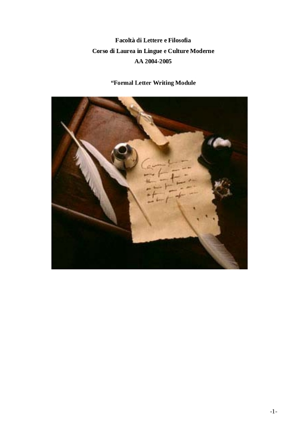 formal letter writing module