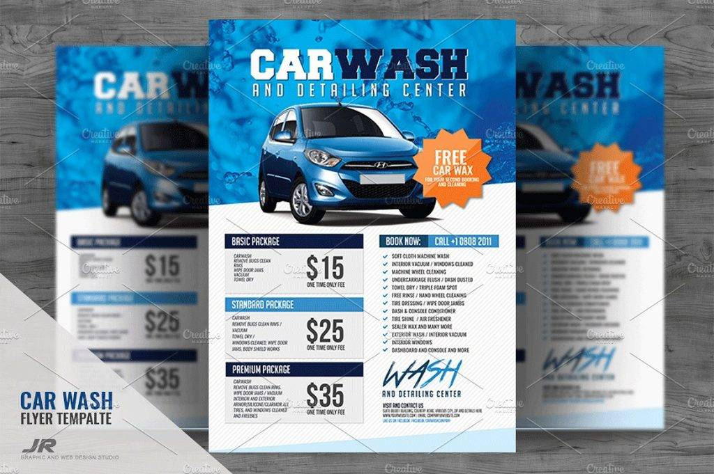 fully customizable car wash flyer