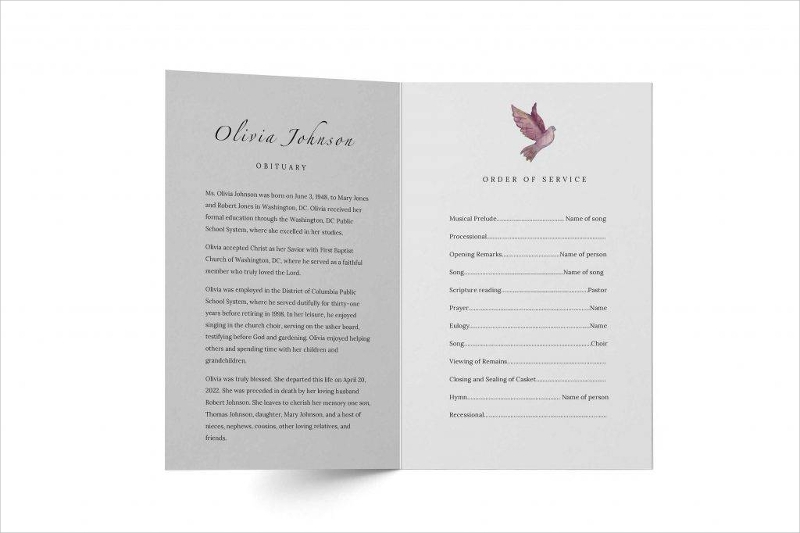 funeral flyer with simple designs