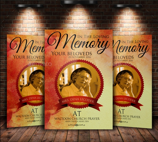 funeral and church flyer template