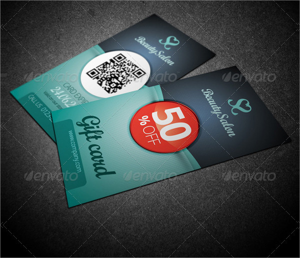 gift or voucher card template