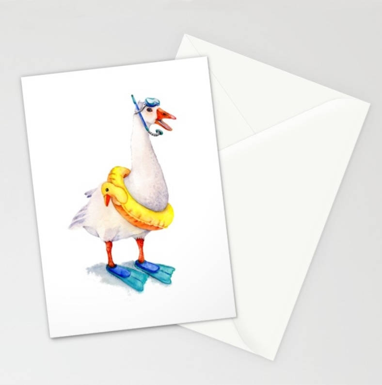 goose blank vacation greeting card