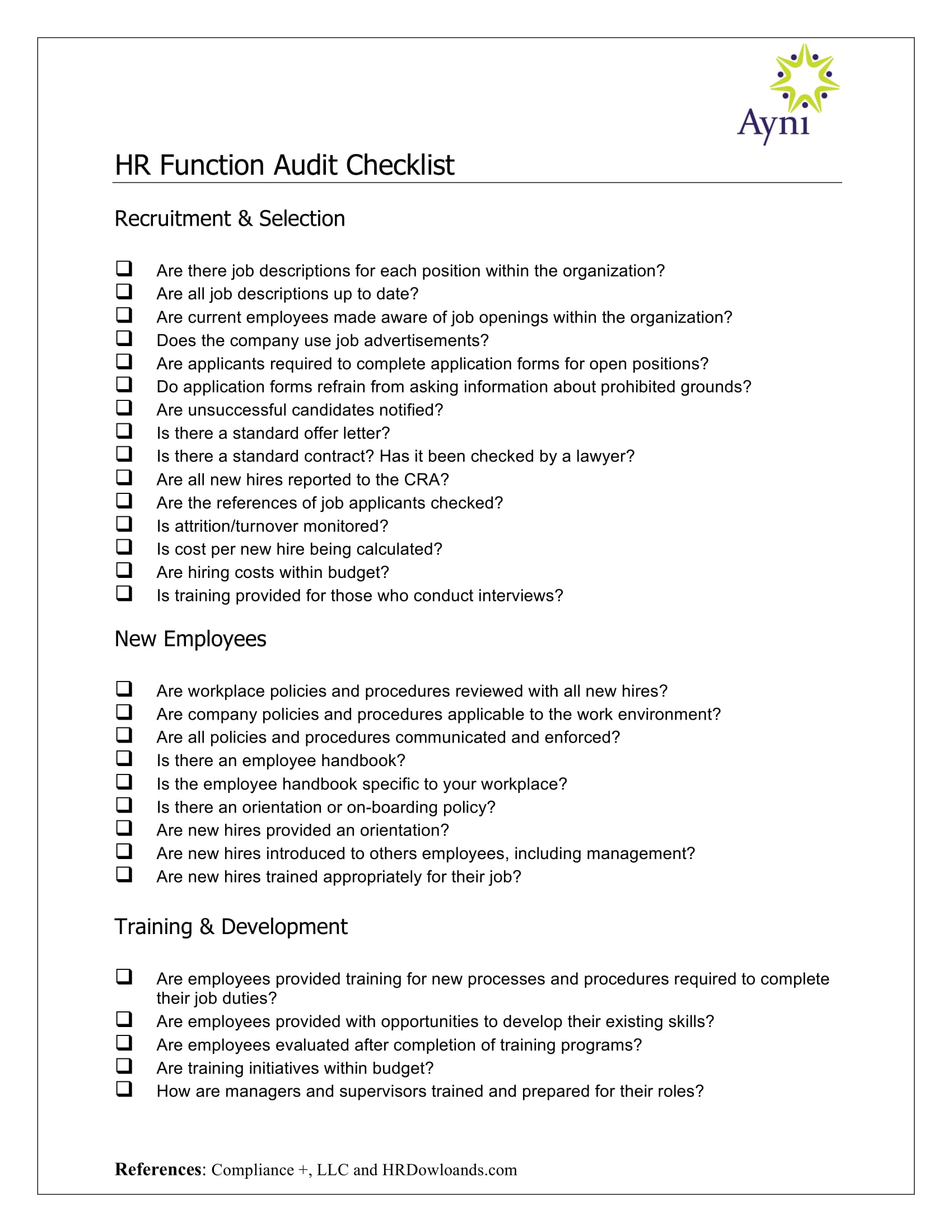 hr audit checklist 1