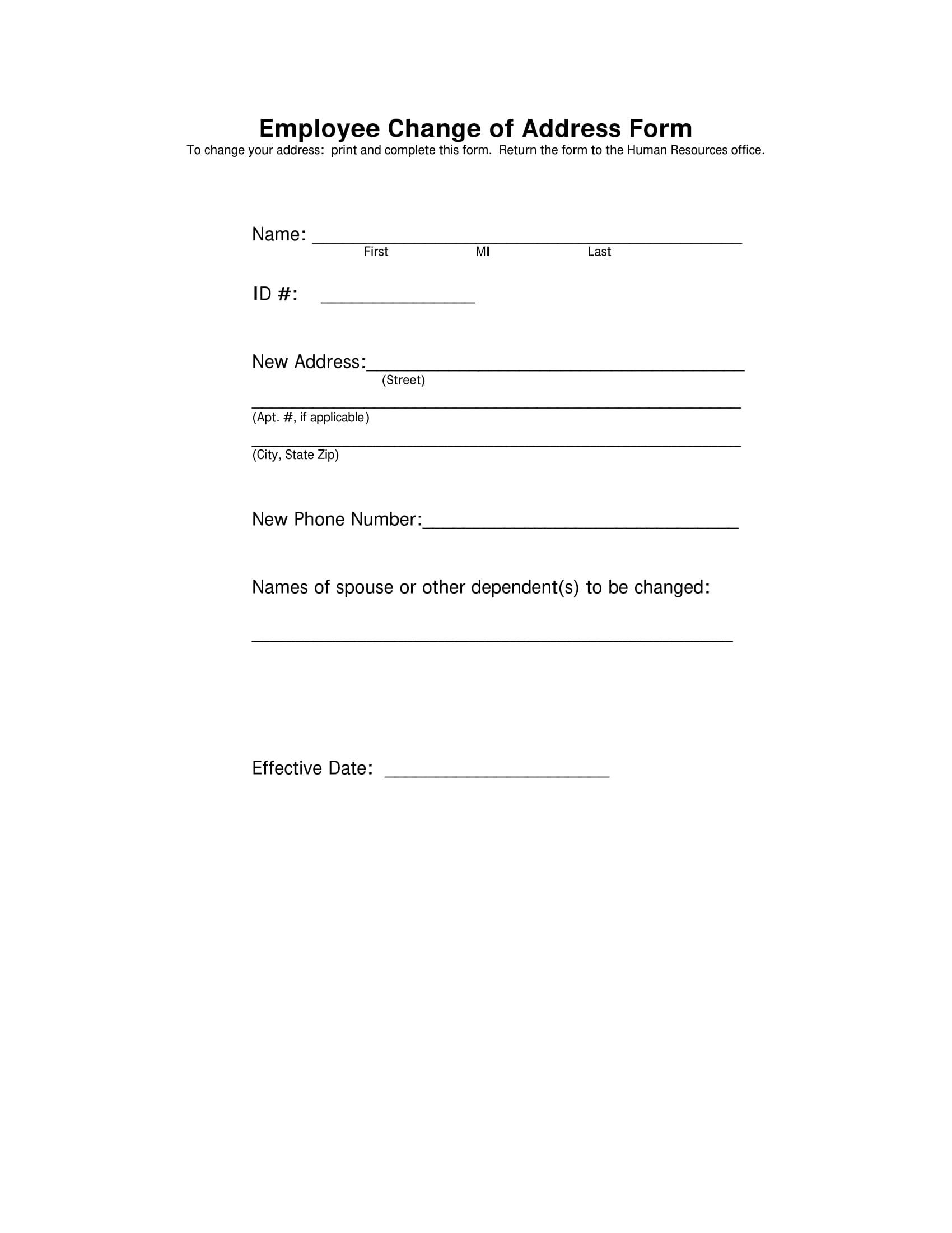 hr change address form 1