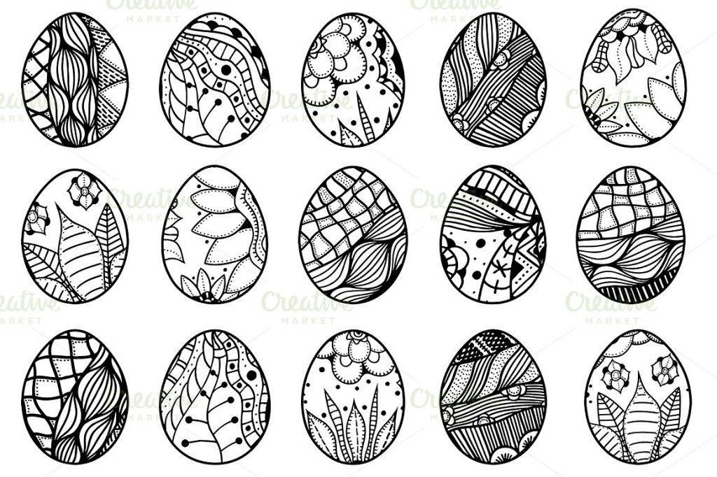 hand drawn easter egg