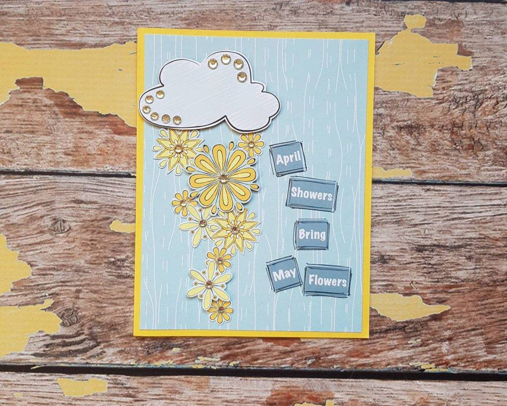 handmade and handstamped baby shower greeting card
