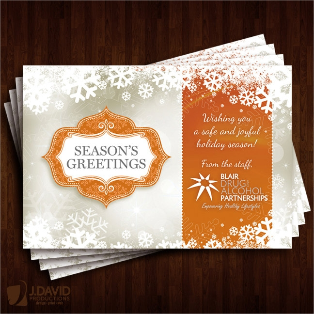 holiday business greeting card