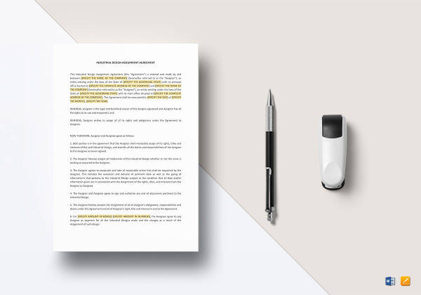 industrial design assignment agreement