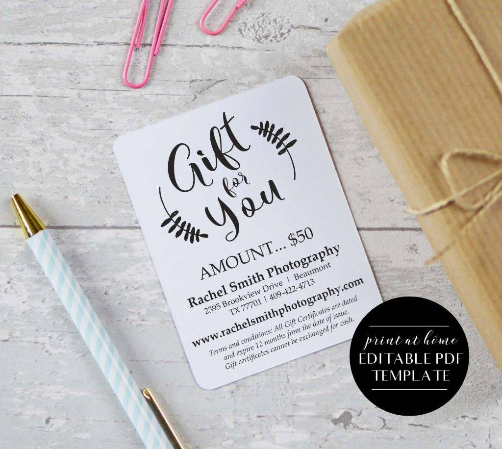instant download gift voucher template