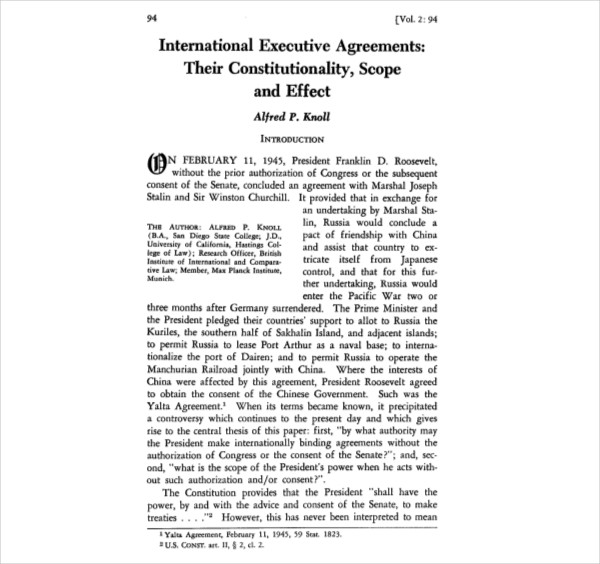 international executive agreements