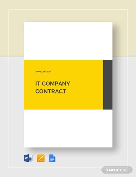 it company contract