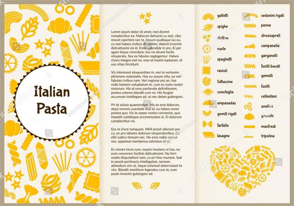 italian pasta menu flyer