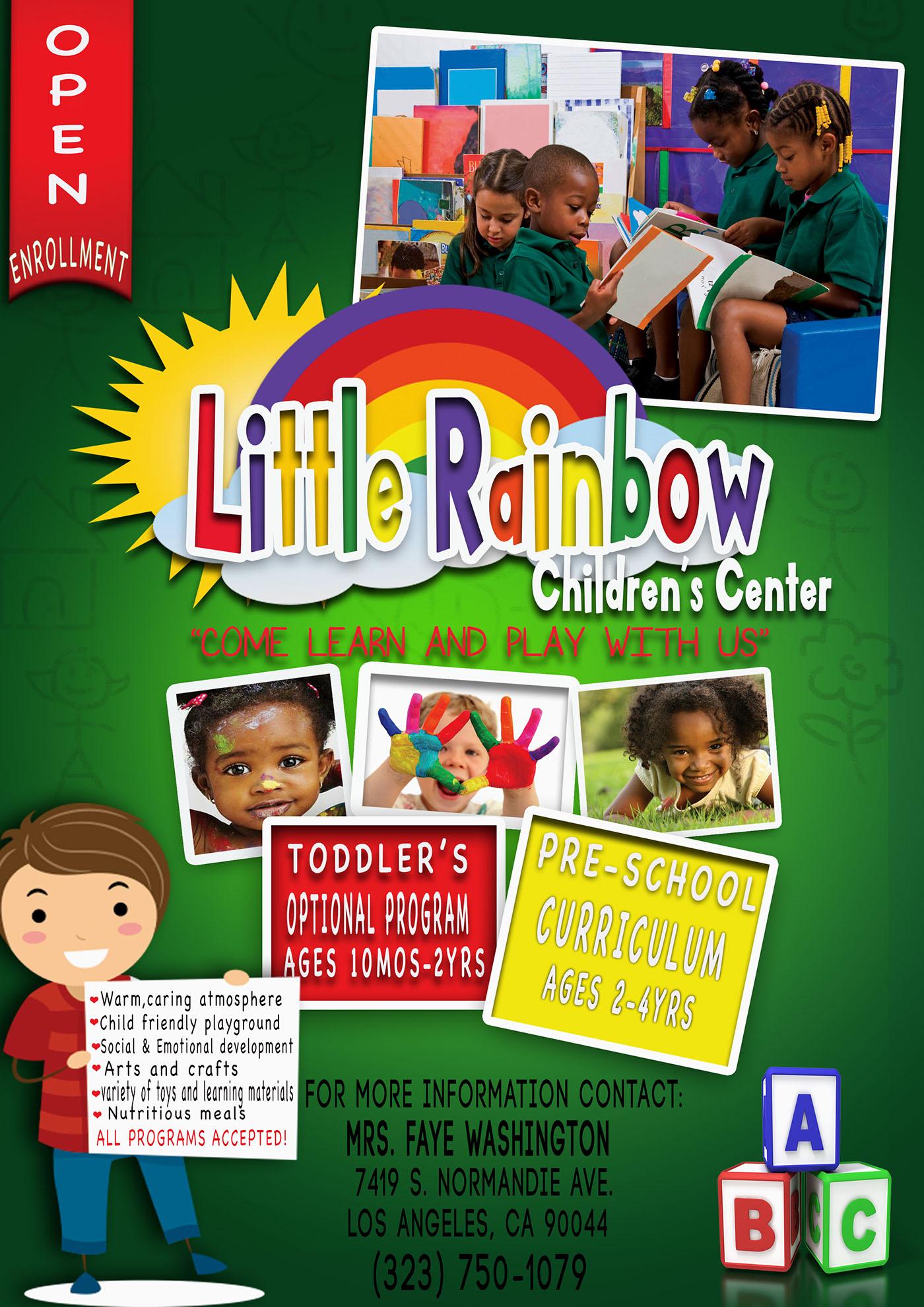 little rainbow childrens center preschool flyer