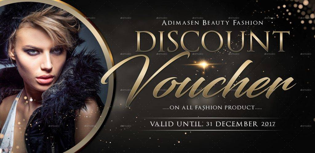 luxurious discount voucher template