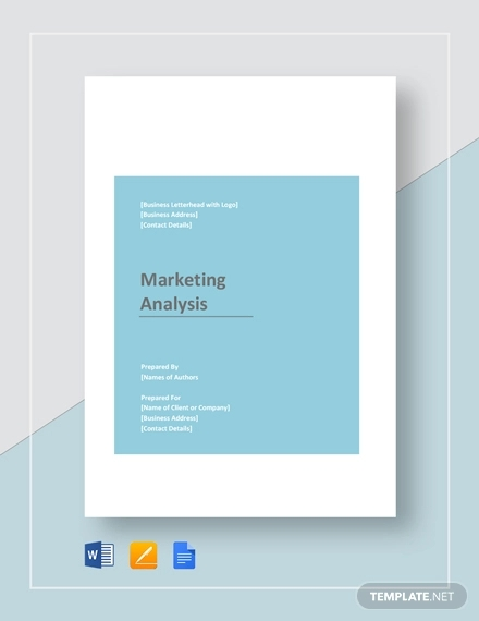 marketing analysis example