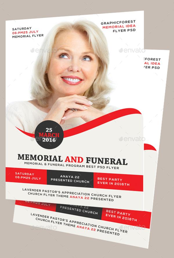 memorial and funeral program flyer