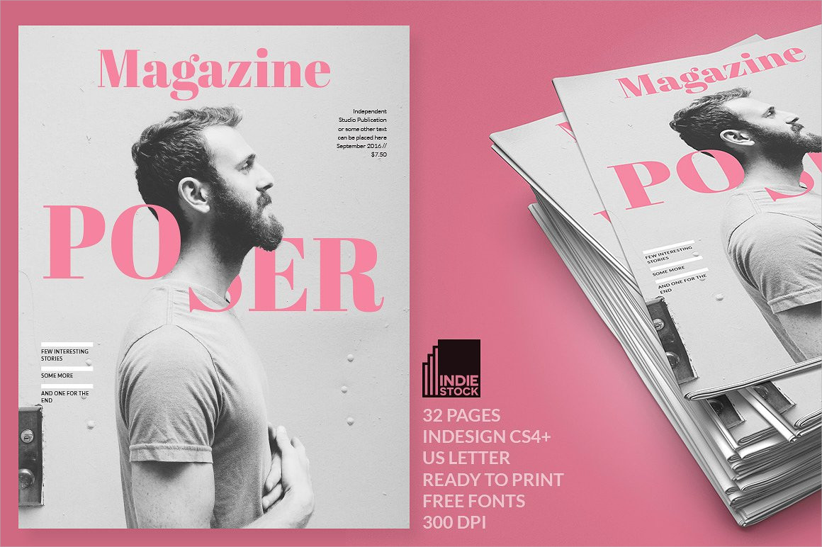 minimalist magazine cover design