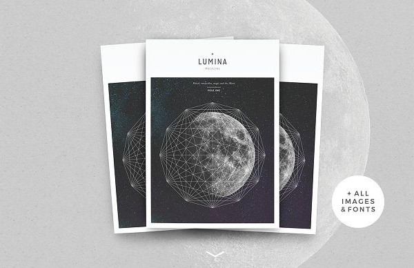 moon magazine cover design