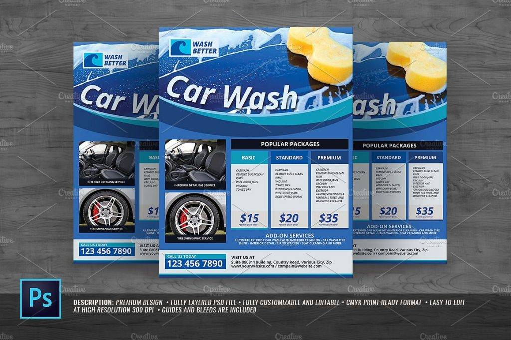 multipurpose car wash flyer