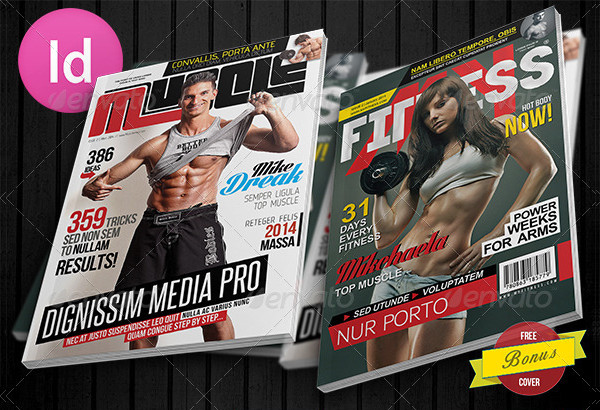 muscle and fitness magazine cover design