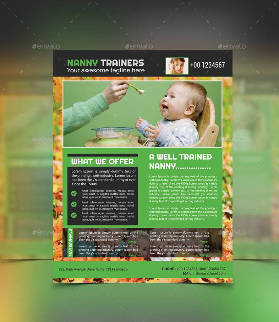 nanny trainer flyer template