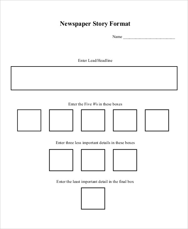 newspaper story outline format1