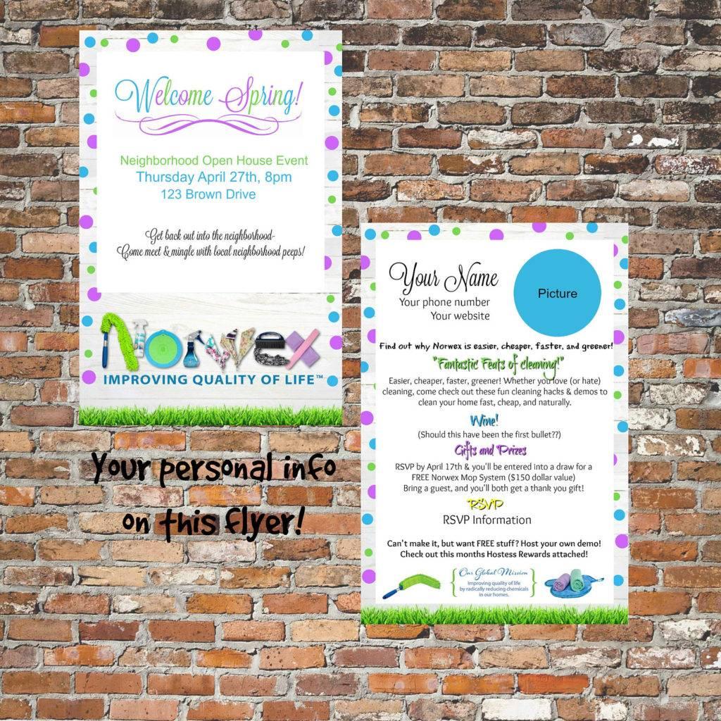 norwex open house flyer
