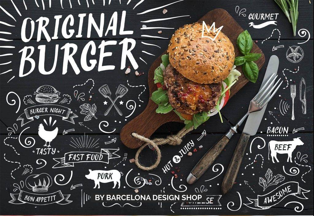 original burger font for burger menu