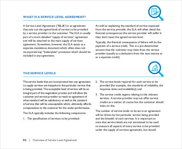 overview of service level agreement