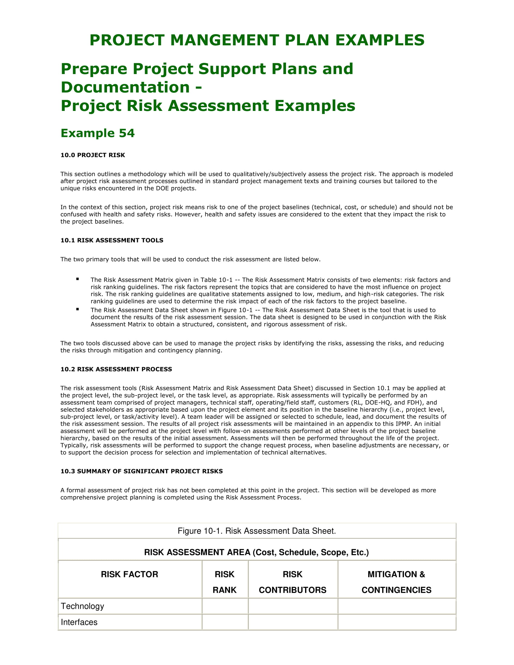 10  project analysis examples
