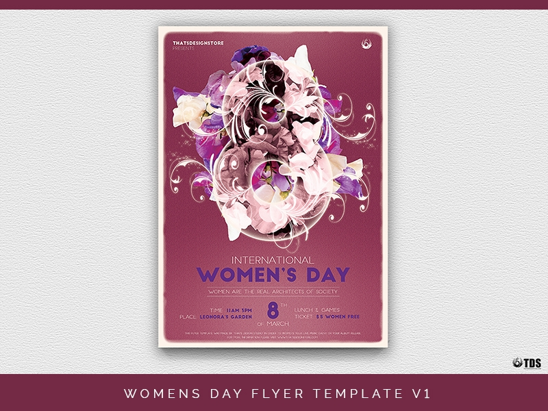 psd womens day flyer